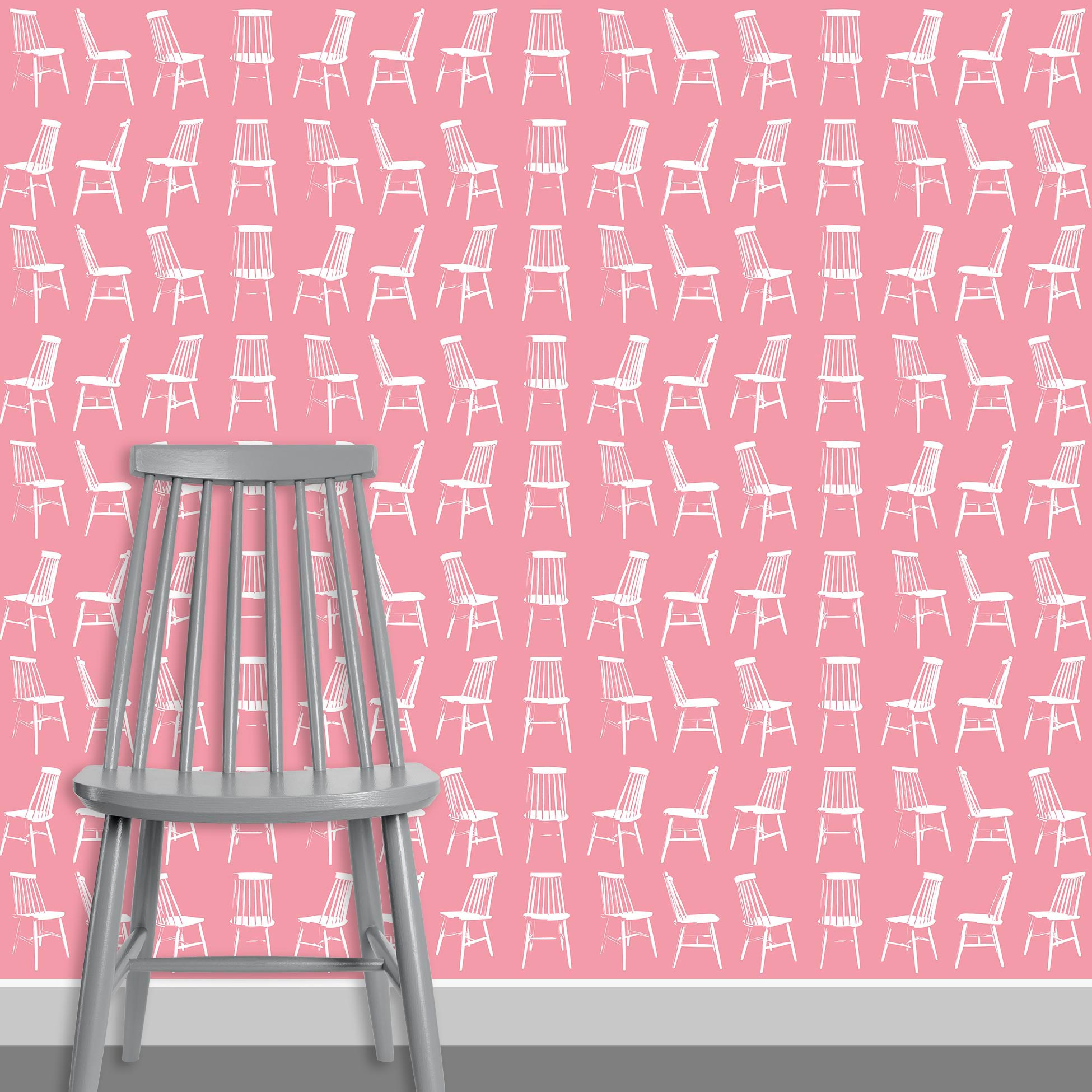 Contact Page Square - Mid Century Modern Chairs Pattern Design 1