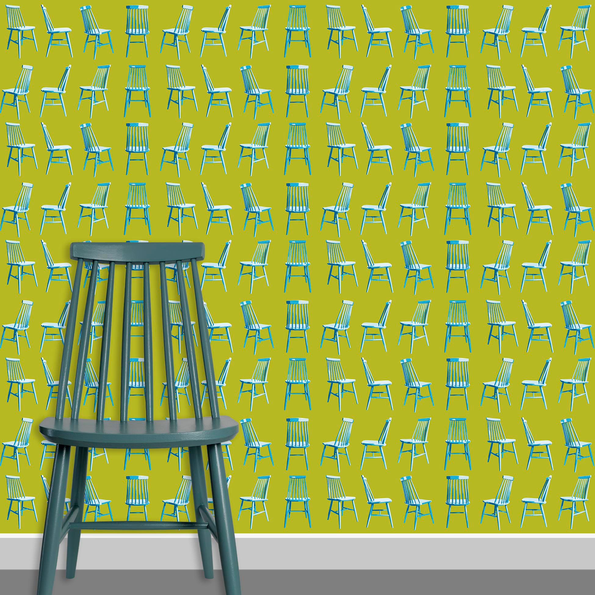 Contact Page Square - Mid Century Modern Chairs Pattern Design 2