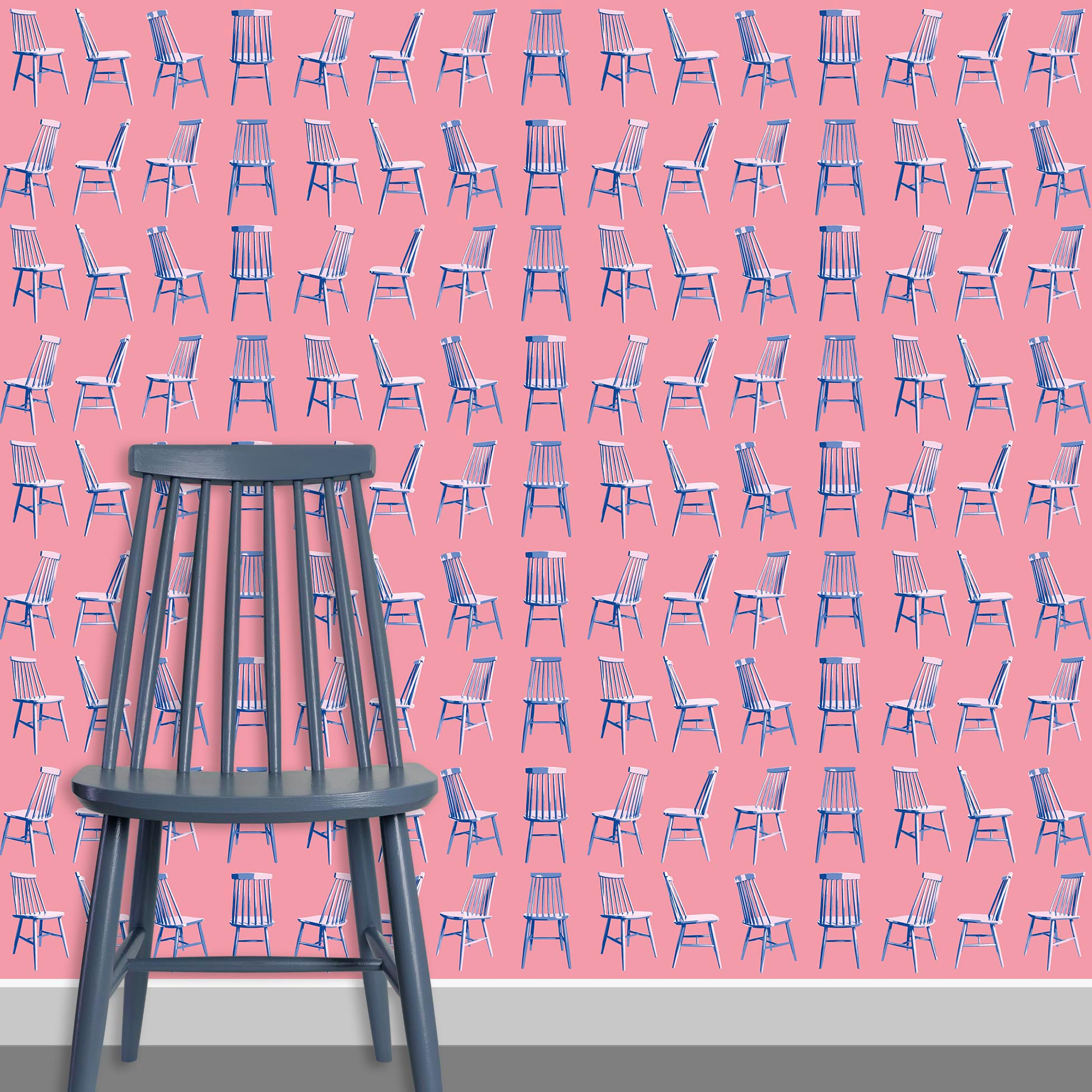 Contact Page Square - Mid Century Modern Chairs Pattern Design 3