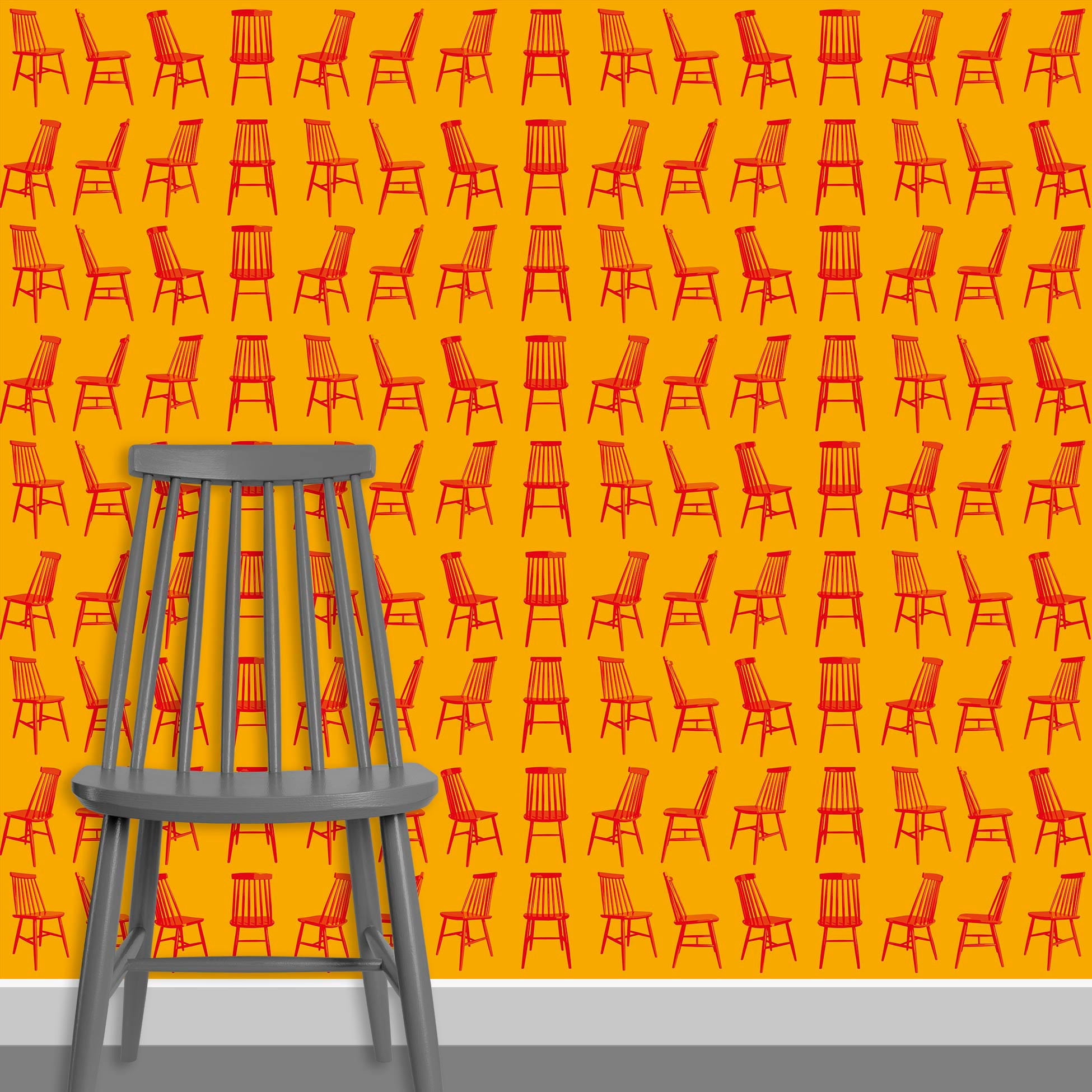 Contact Page Square - Mid Century Modern Chairs Pattern Design 4
