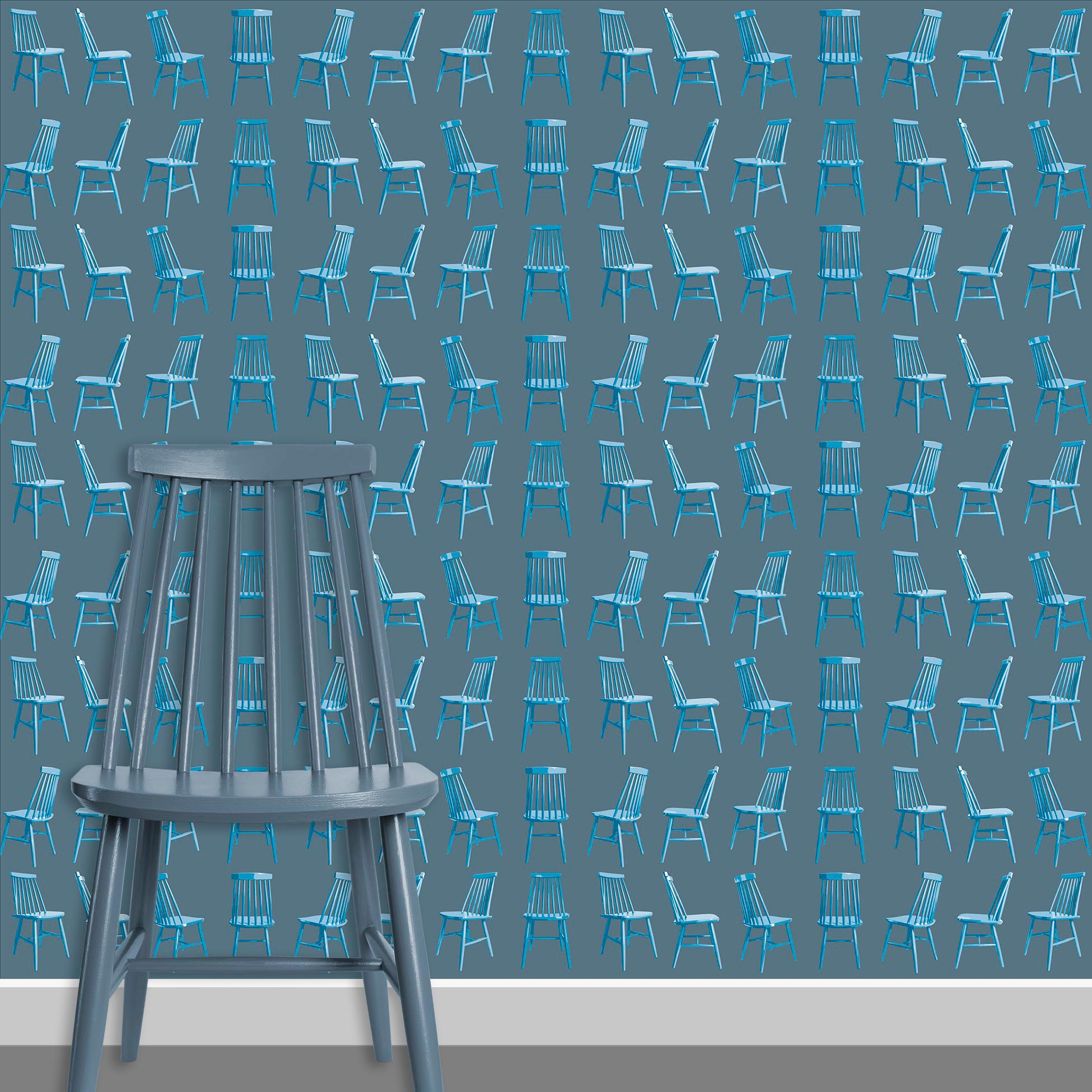 Contact Page Square - Mid Century Modern Chairs Pattern Design 5