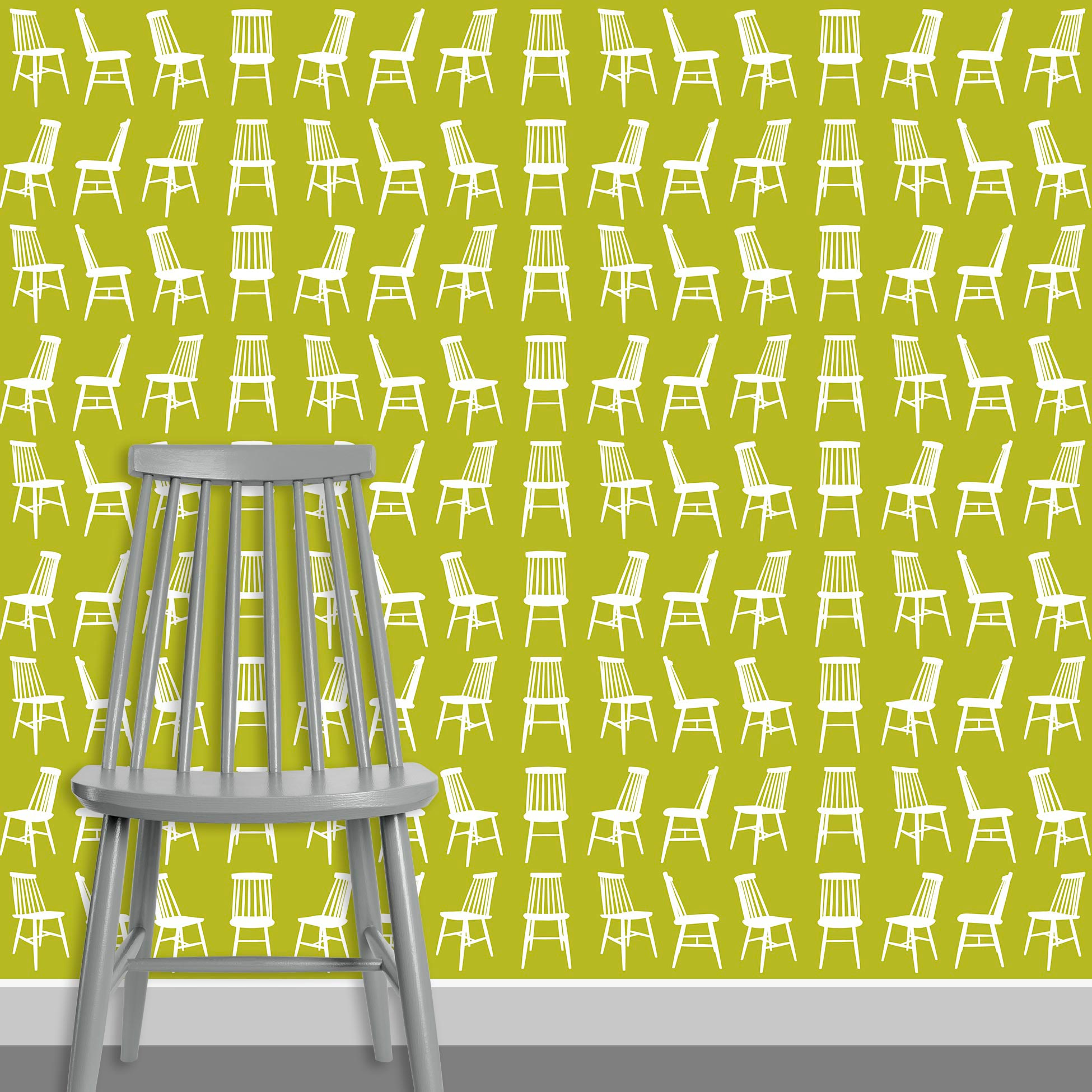 Contact Page Square - Mid Century Modern Chairs Pattern Design 6
