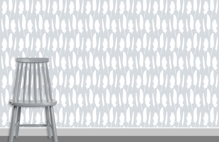 Feathers Pattern Design B 11 plus chair