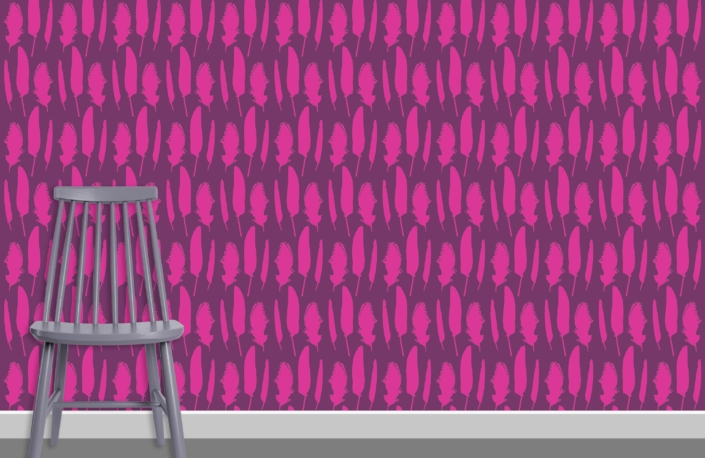 Feathers Pattern Design C 34 14 plus chair