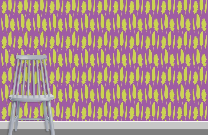 Feathers Pattern Design C 35 29 plus chair