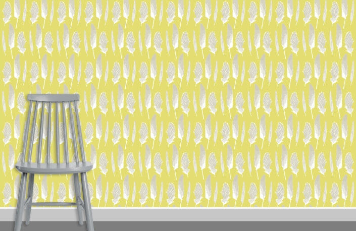 Feathers Pattern Design D 1 7 plus chair