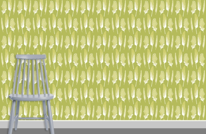 Feathers Pattern Design D 17 27 plus chair