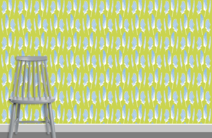 Feathers Pattern Design D 31 35 plus chair