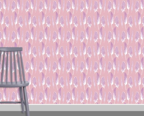 Feathers Pattern Design D 32 16