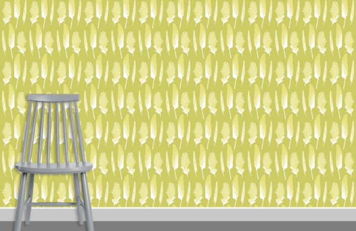 Feathers Pattern Design D 7 17 plus chair