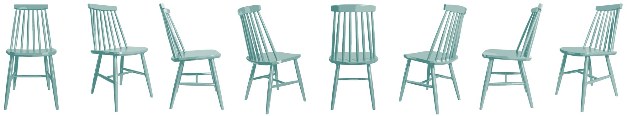 Mid Century Chairs Pattern repeat only