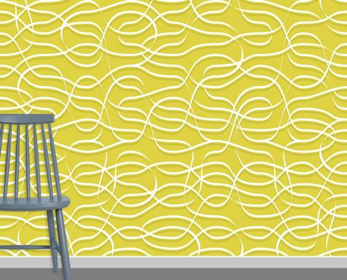 Ribbons Pattern Design A-0-10