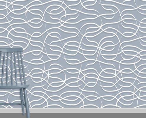 Ribbons Pattern Design A-0-18