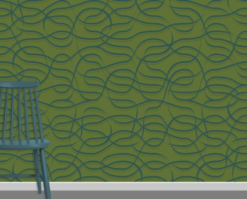 Ribbons Pattern Design A-19-24