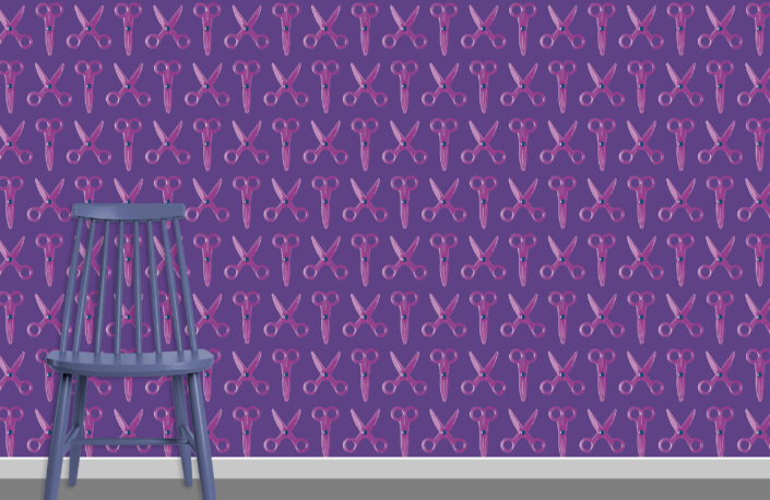 Scissors Pattern Design E 12 29 22 plus chair