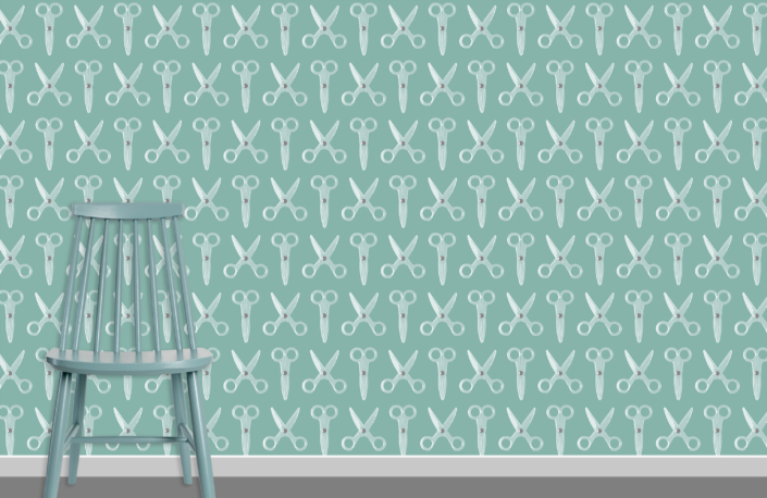 Scissors Pattern Design E 20 X 4 plus chair