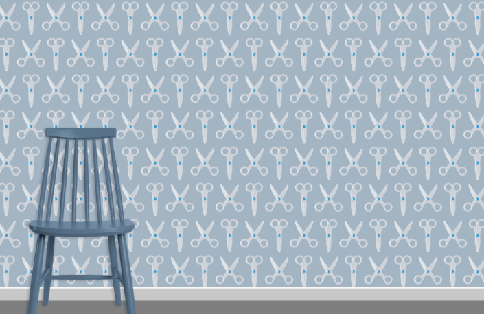 Scissors Pattern Design E 31 11 18 plus chair
