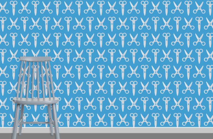 Scissors Pattern Design E 31 11 31 plus chair