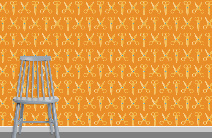 Scissors Pattern Design E 31 15 6 plus chair
