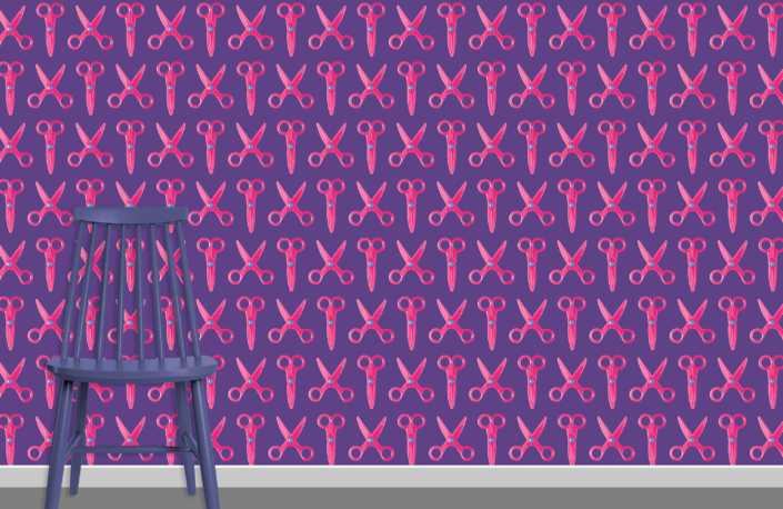 Scissors Pattern Design E 31 34 22 plus chair