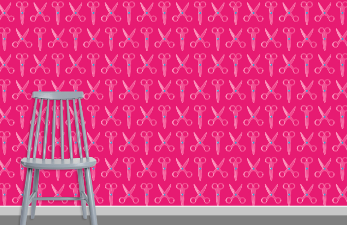 Scissors Pattern Design E 31 34 34 plus chair