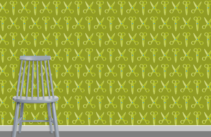 Scissors Pattern Design E 31 35 27 plus chair