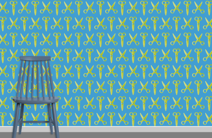 Scissors Pattern Design E 31 35 31 plus chair