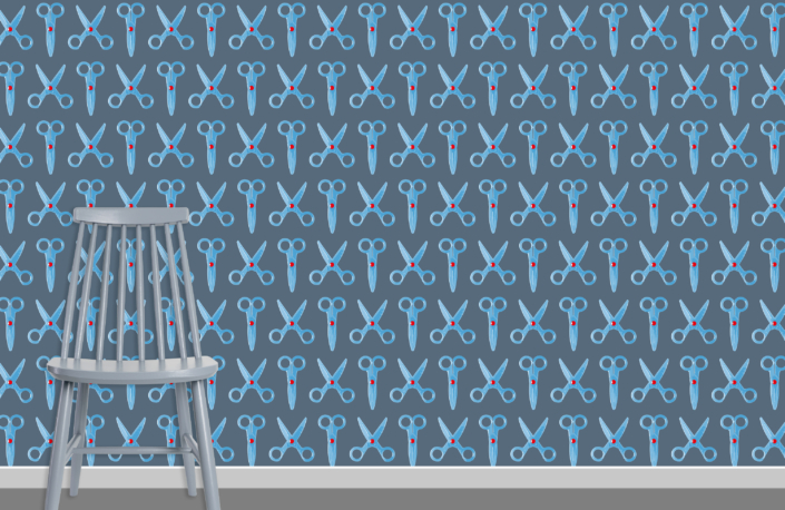 Scissors Pattern Design E 36 31 9 plus chair