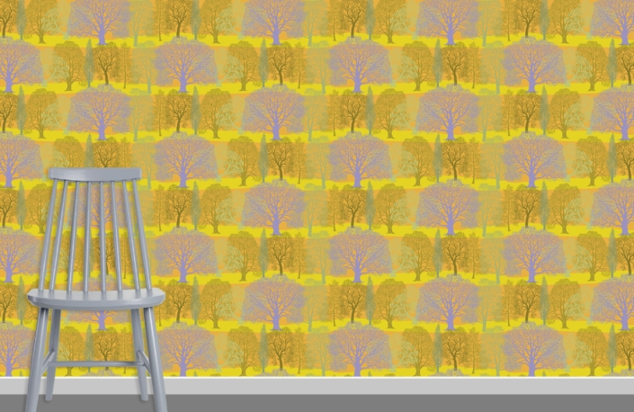 Trees Pattern Design H-37-26-HL-38 plus chair