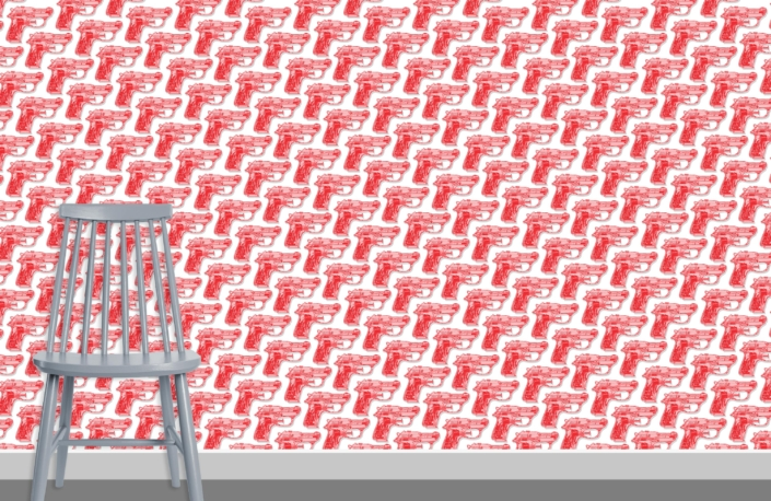 Water Pistols Pattern Design D red 0 plus chair