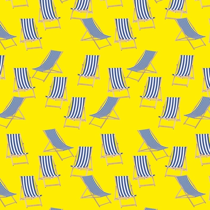 Deck Chairs Pattern Development E – created variations of the two deckchairs then arranged them more naturally.