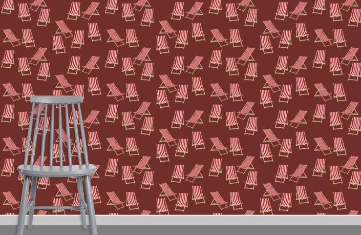 Deck Chairs Surface Pattern Design H28 plus chair
