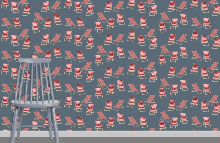Deck Chairs Surface Pattern Design H3 plus chair