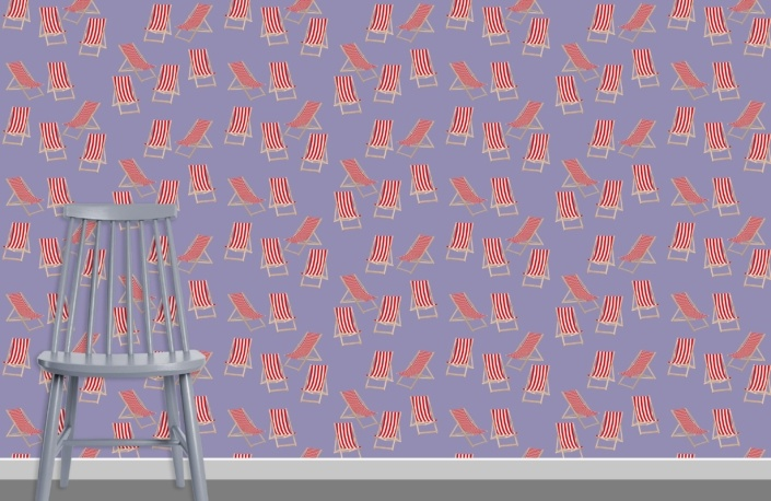 Deck Chairs Surface Pattern Design H37 plus chair