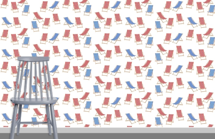 Deck Chairs Surface Pattern Design J0 plus chair