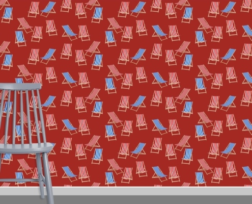 Deck Chairs Surface Pattern Design J36