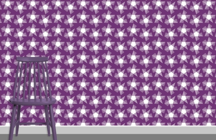Stars Pattern Design E-29 plus chair
