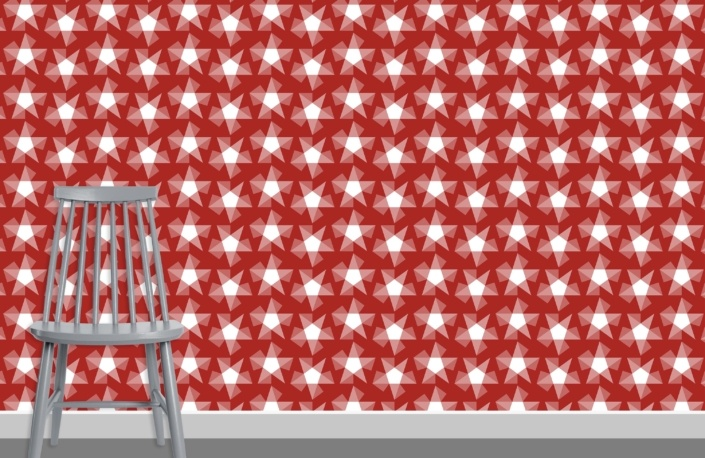 Stars Pattern Design E-36 plus chair