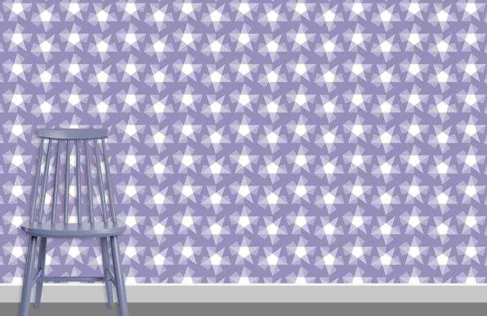 Stars Pattern Design E-37 plus chair