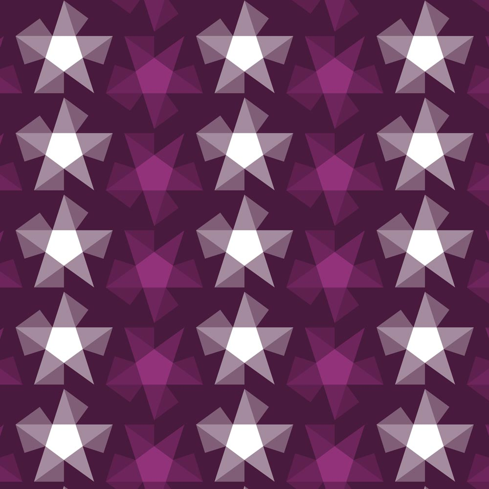 Stripy Stars Surface Pattern Design Closeup