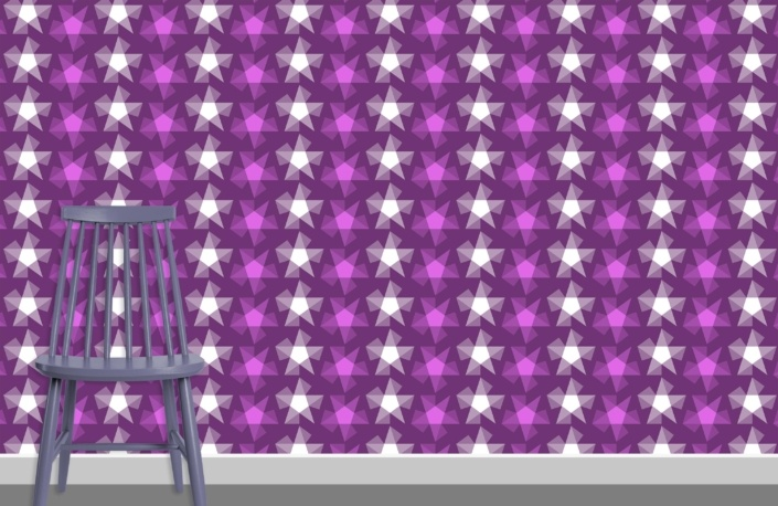 Stripy Stars Surface Pattern Design F 29 plus chair
