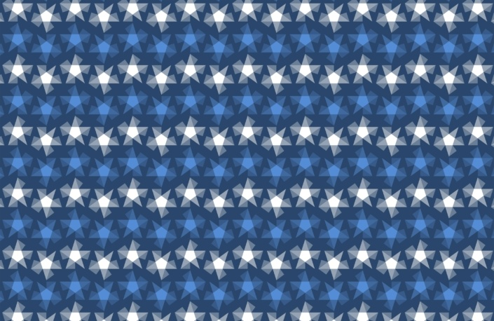 Stripy Stars Surface Pattern Design G 12