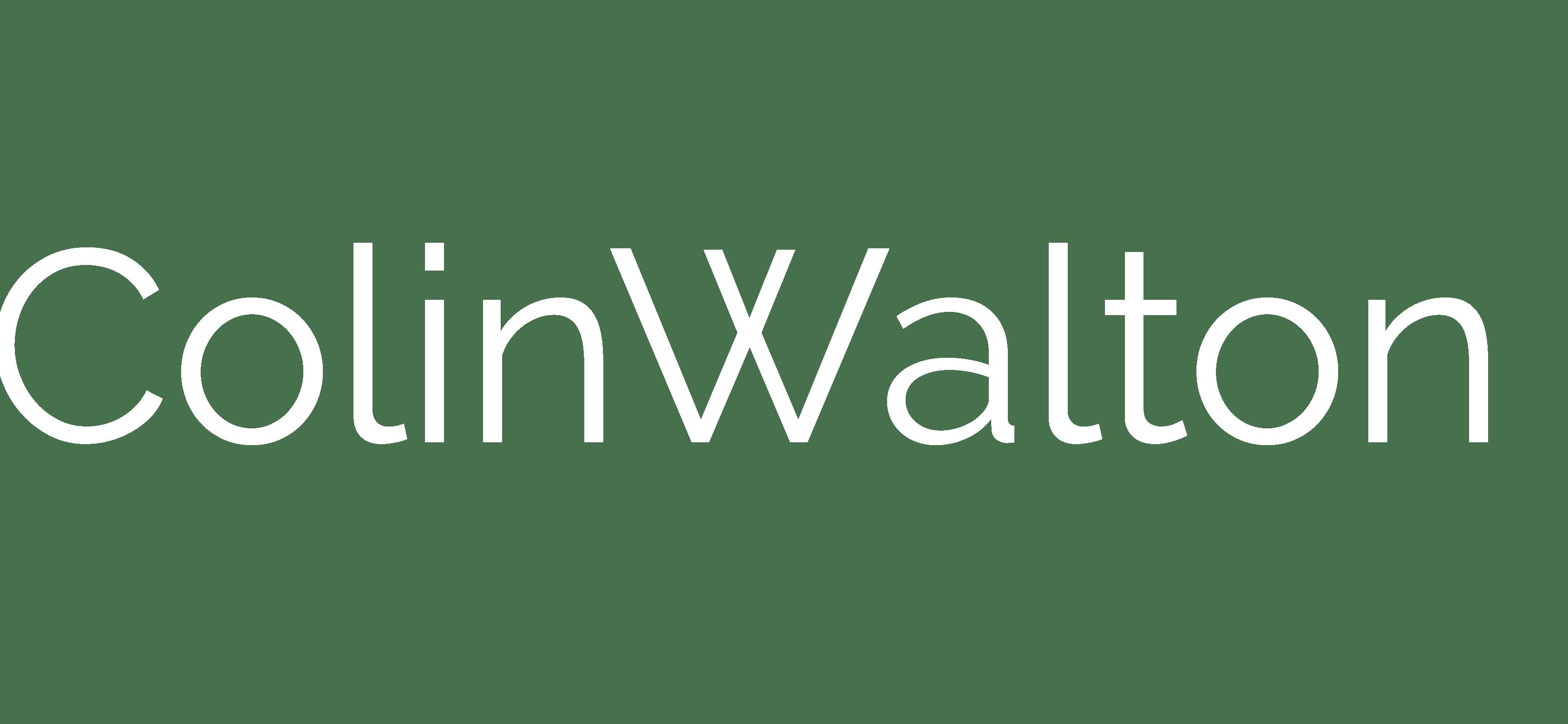ColinWalton Logo white bolder