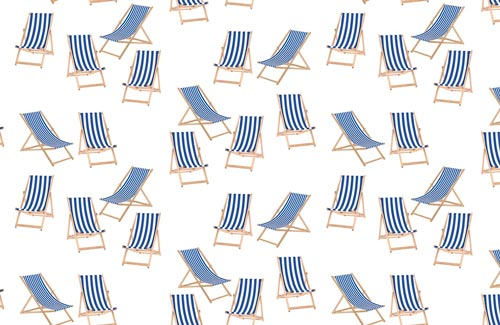 Deck Chairs Surface Pattern Design swatch