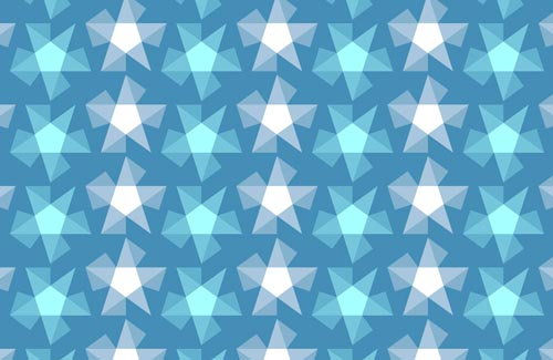 Stripy Stars Surface Pattern Design swatch