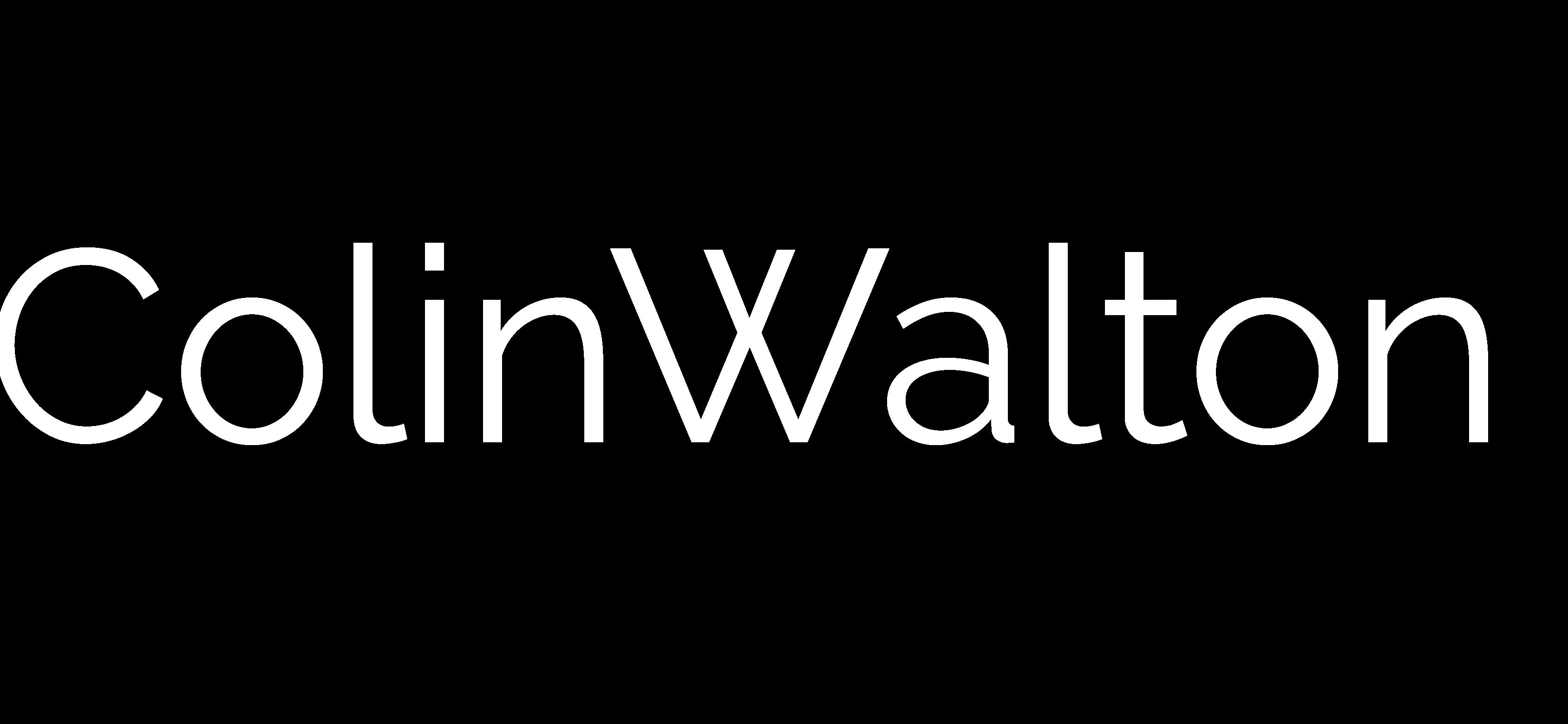 Colin Walton Logo white bolder