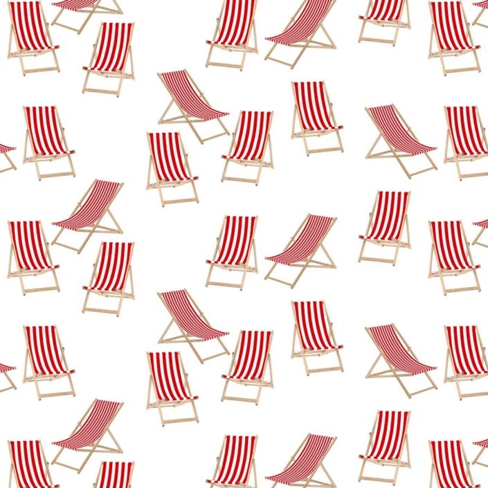 Deck Chairs Pattern Development H on white