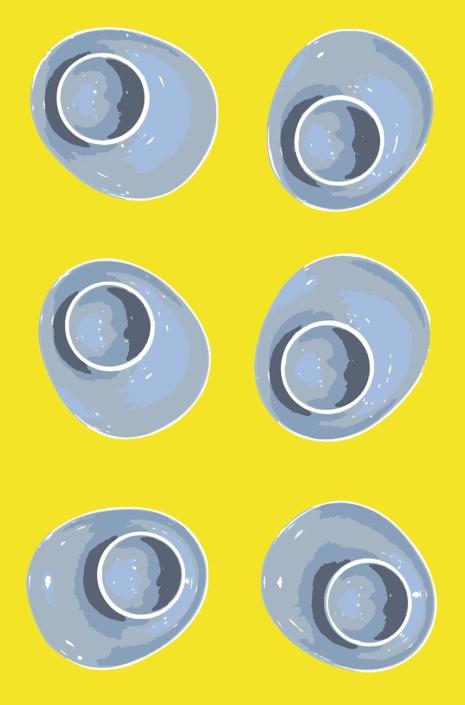 Egg Cups pattern development A