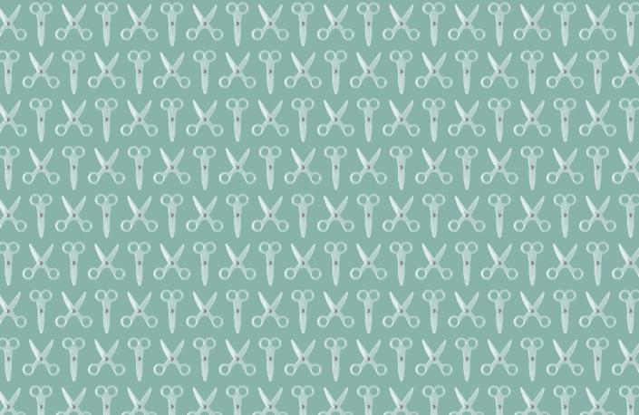 Scissors Pattern Design E-20-X-4