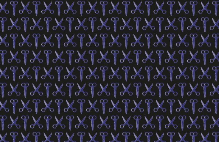 Scissors Pattern Design E-25-25-33